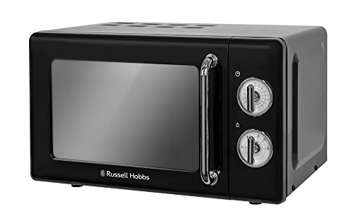 russell hobbs rhretmm705b retro schwarz kompakte manuelle mikrowelle renfarg. Black Bedroom Furniture Sets. Home Design Ideas